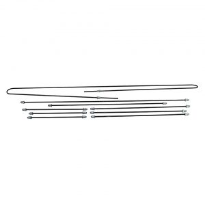 Brakeline kit, drum, original - Under-carriage - Brakes - Metal brake lines  - Generic