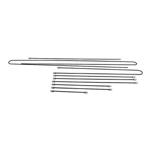 Brakeline kit, original - Under-carriage - Brakes - Metal brake lines  - Generic