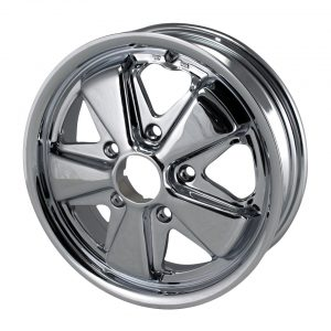 911 style wheel, chrome15 x 4.55 lug (5x130)ET +45 - Exterior - Wheel rims and accessories - Porsche 911 style chrome wheel  - Flat 4