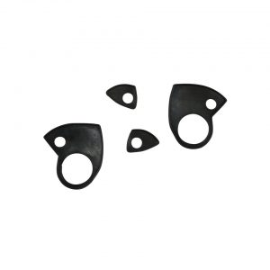 Door handle seals, 4 pieces - Exterior - Body part rubbers - Door and window seals Karmann Ghia (XView 1-15)  - Generic
