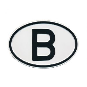 Sign B (Belgium) - Exterior - Plates and accessories - Country - year signs  - Generic