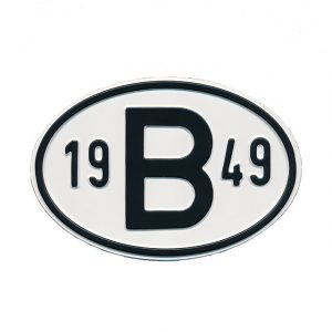 Sign B 1949 - Exterior - Plates and accessories - Country - year signs  - Generic