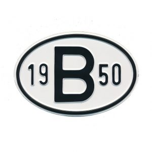 Sign B 1950 - Exterior - Plates and accessories - Country - year signs  - Generic