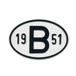 Sign B 1951 - Exterior - Plates and accessories - Country - year signs  - Generic