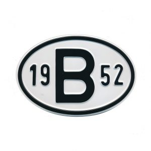 Sign B 1952 - Exterior - Plates and accessories - Country - year signs  - Generic