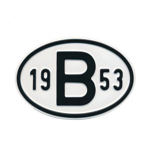 Sign B 1953 - Exterior - Plates and accessories - Country - year signs  - Generic