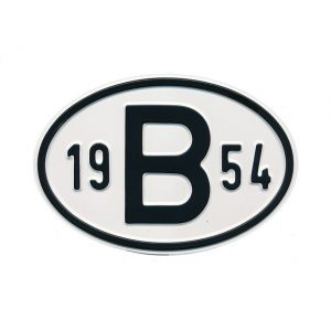 Sign B 1954 - Exterior - Plates and accessories - Country - year signs  - Generic