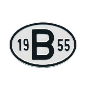 Sign B 1955 - Exterior - Plates and accessories - Country - year signs  - Generic