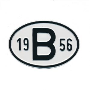 Sign B 1956 - Exterior - Plates and accessories - Country - year signs  - Generic