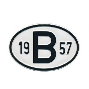 Sign B 1957 - Exterior - Plates and accessories - Country - year signs  - Generic