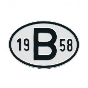 Sign B 1958 - Exterior - Plates and accessories - Country - year signs  - Generic