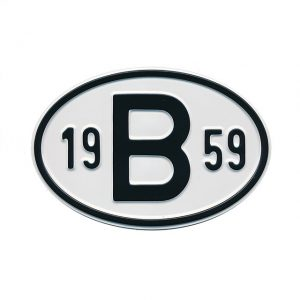 Sign B 1959 - Exterior - Plates and accessories - Country - year signs  - Generic