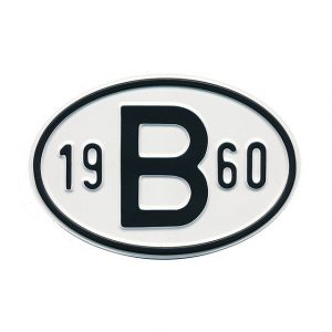 Sign B 1960 - Exterior - Plates and accessories - Country - year signs  - Generic