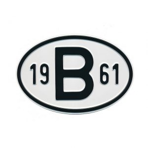 Sign B 1961 - Exterior - Plates and accessories - Country - year signs  - Generic