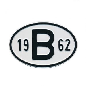 Sign B 1962 - Exterior - Plates and accessories - Country - year signs  - Generic