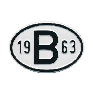 Sign B 1963 - Exterior - Plates and accessories - Country - year signs  - Generic