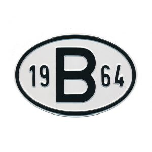 Sign B 1964 - Exterior - Plates and accessories - Country - year signs  - Generic