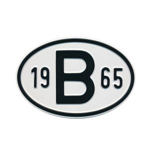 Sign B 1965 - Exterior - Plates and accessories - Country - year signs  - Generic