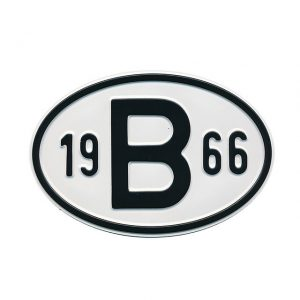 Sign B 1966 - Exterior - Plates and accessories - Country - year signs  - Generic