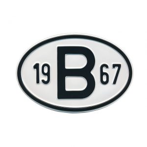 Sign B 1967 - Exterior - Plates and accessories - Country - year signs  - Generic