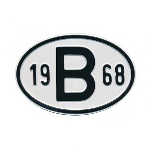 Sign B 1968 - Exterior - Plates and accessories - Country - year signs  - Generic