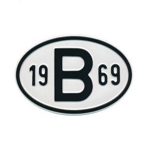 Sign B 1969 - Exterior - Plates and accessories - Country - year signs  - Generic