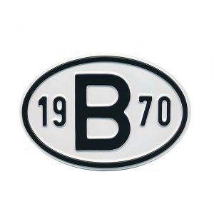 Sign B 1970 - Exterior - Plates and accessories - Country - year signs  - Generic