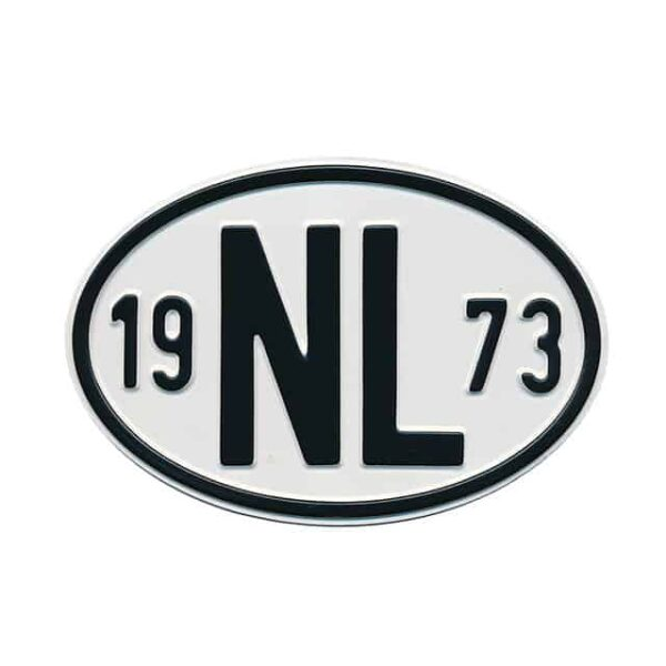 Sign NL 1973 - Exterior - Plates and accessories - Country - year signs  - Generic