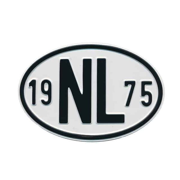 Sign NL 1975 - Exterior - Plates and accessories - Country - year signs  - Generic