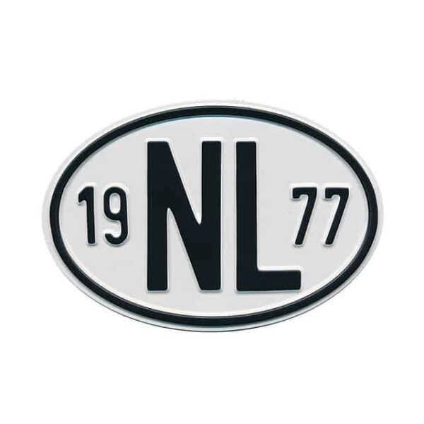 Sign NL 1977 - Exterior - Plates and accessories - Country - year signs  - Generic