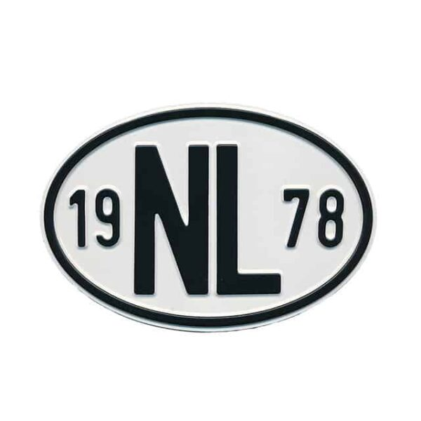 Sign NL 1978 - Exterior - Plates and accessories - Country - year signs  - Generic