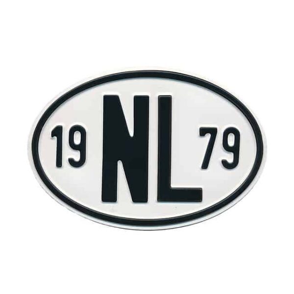 Sign NL 1979 - Exterior - Plates and accessories - Country - year signs  - Generic
