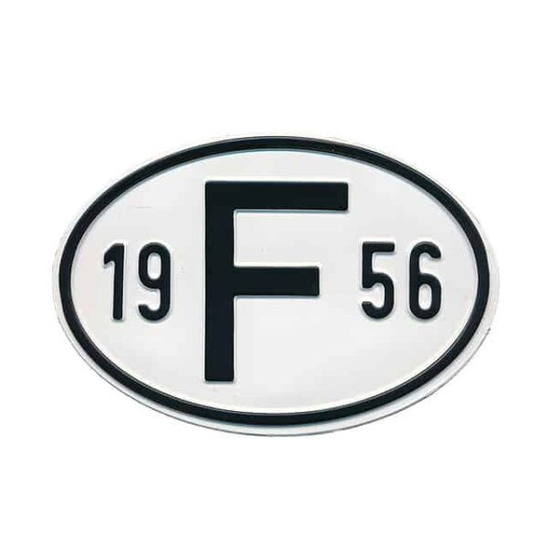 Sign F 1956 - Exterior - Plates and accessories - Country - year signs  - Generic