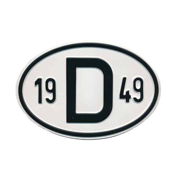 Sign D 1949 - Exterior - Plates and accessories - Country - year signs  - Generic