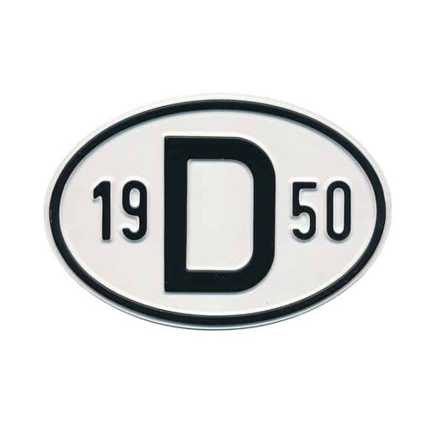 Sign D 1950 - Exterior - Plates and accessories - Country - year signs  - Generic