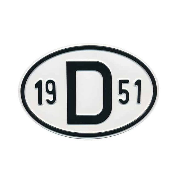 Sign D 1951 - Exterior - Plates and accessories - Country - year signs  - Generic