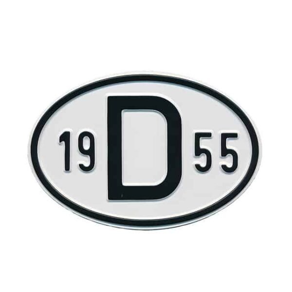 Sign D 1955 - Exterior - Plates and accessories - Country - year signs  - Generic