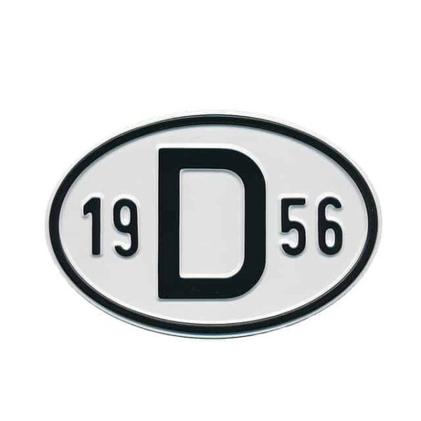 Sign D 1956 - Exterior - Plates and accessories - Country - year signs  - Generic