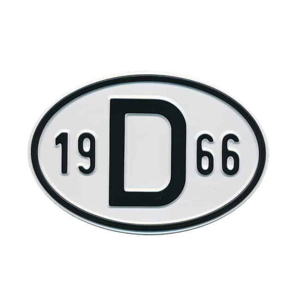 Sign D 1966 - Exterior - Plates and accessories - Country - year signs  - Generic