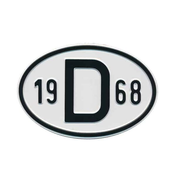 Sign D 1968 - Exterior - Plates and accessories - Country - year signs  - Generic
