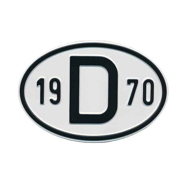 Sign D 1970 - Exterior - Plates and accessories - Country - year signs  - Generic