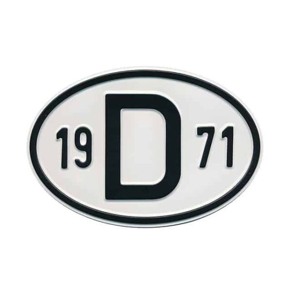 Sign D 1971 - Exterior - Plates and accessories - Country - year signs  - Generic