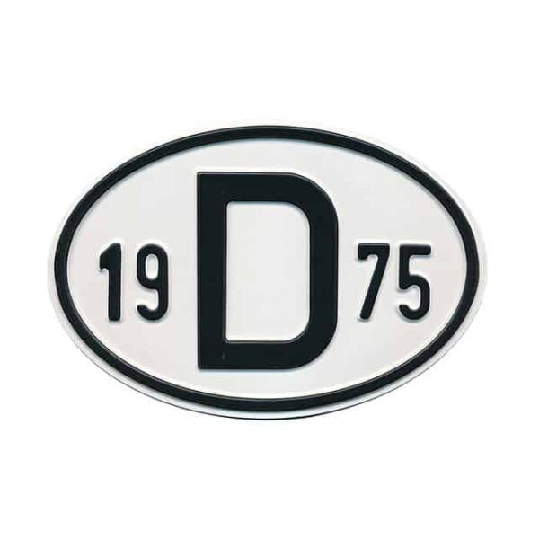 Sign D 1975 - Exterior - Plates and accessories - Country - year signs  - Generic