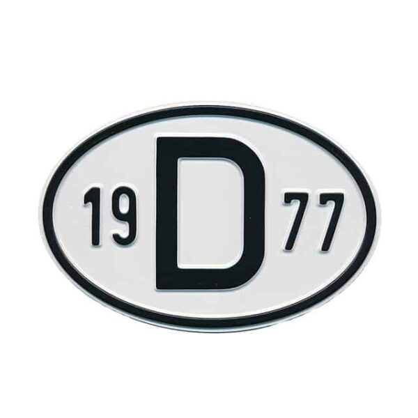Sign D 1977 - Exterior - Plates and accessories - Country - year signs  - Generic