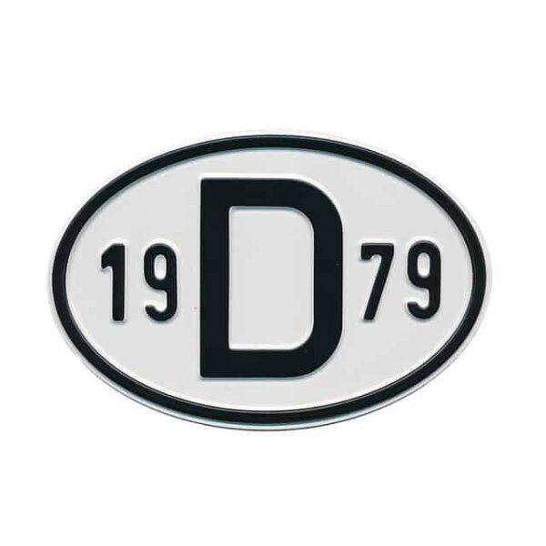 Sign D 1979 - Exterior - Plates and accessories - Country - year signs  - Generic