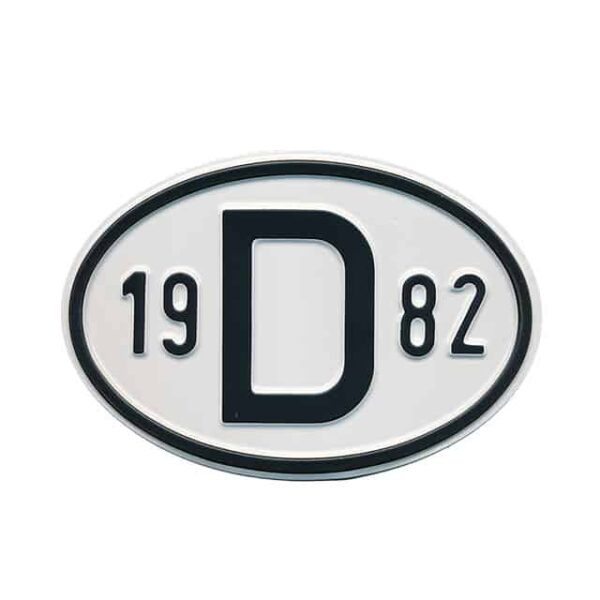 Sign D 1982 - Exterior - Plates and accessories - Country - year signs  - Generic