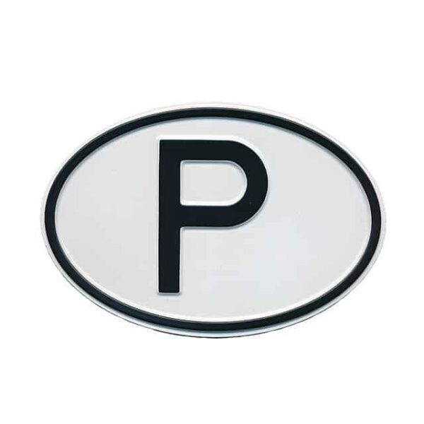 Sign P (Portugal) - Exterior - Plates and accessories - Country - year signs  - Generic