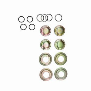 King- and linkpin mounting kit (16pcs) - Under-carriage - Front suspension - Spindle  Bus -07/67 (XView 4-12)  - Generic