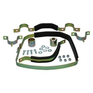 Transmission strap kit. Complete mounting kit for gearbox with thin rubber plates - Under-carriage - Rear suspension and gearbox - Gearbox strap kit  - Generic