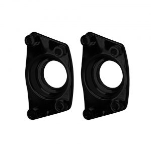 Cover plates for IRS, US model, blackas pair - Under-carriage - Rear suspension and gearbox - Spring plate caps  - Generic